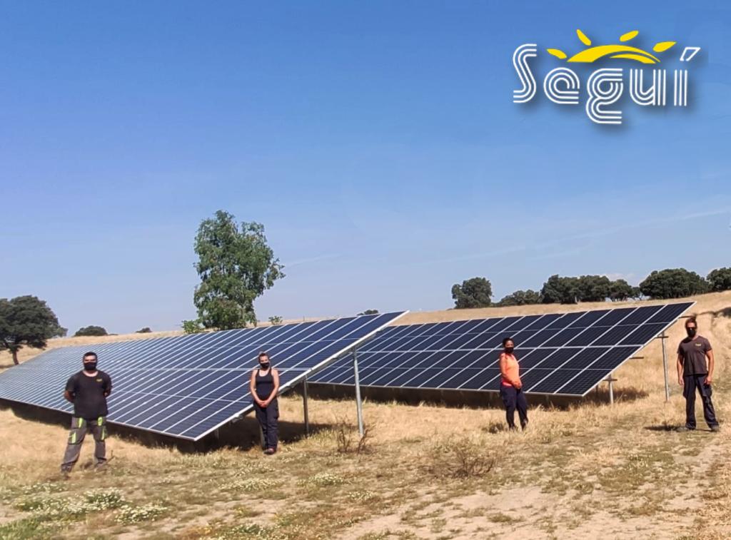 Tornillo Fundamento huerto solar